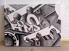 12469353_10153314231502918_8219645103098935947_o (roms the first) Tags: art graffiti fine brisbane canvas roms