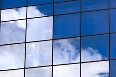 blue remembered skies... (HUNGRYGH0ST) Tags: blue windows summer sky cloud white abstract reflection portugal minimal