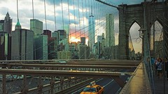 Brooklyn Bridge (Noemi Camarda) Tags: city nyc newyorkcity sunset sky ny newyork building skyline brooklyn skyscraper cab taxi worldtradecenter sunsets empire brooklynbridge eastriver empirestate statueofliberty citt ladyliberty yellowtaxi statuadellaliberta oneworldtradecenter