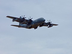 KC-130 Aerial Refueling Tankers Practicing Touch and Goes At Davis-Monthan AFB in Tucson, AZ Feb 18, 2016 <<>> P1010586 - Version 2 (Chic Bee) Tags: arizona sky plane airplane tucson aircraft military davismonthanafb kc130