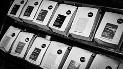 Pop Up Coffee Beans (sarahbethsmithphotography) Tags: blackandwhite coffee tacoma barista coffeebeans blackcoffee ttown smallbusiness tacomacoffee heartroasters popupcoffee tacomabusiness