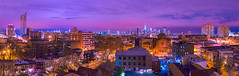 ([ raymond ]) Tags: nyc newyorkcity pink blue panorama color skyline night landscape jerseycity cityscape stitch manhattan horizon panoramic