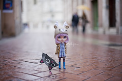 """""""Why does it have to stop raining? It's not fair!"""" (_babycatface_) Tags: cute toy doll cutiepie blythe custom takara blythedoll dollphotography customblythe customdoll toyphotography dollcustom blythecustom takaradoll babycatfacedollies babycatface"""