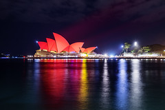 Sydney Opera House (Leighton Wallis) Tags: china red lights sony sydney australia circularquay chinesenewyear projection nsw newsouthwales alpha f40 1635mm mirrorless a7r emount ilce7r