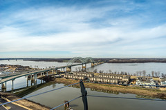 Memphis cityscape from the pyramid observation deck (SDB777) Tags: cityscape pyramid memphis sony basspro a7ii sonya7ii basspropyramid