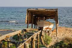 Barca en un varadero tpico en Ca Mar (alvarogf18) Tags: mar barca varadero formentera mediterrneo camar