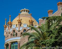 A detail of the Hospital de la Sant Pau in Barcelona (keithhull) Tags: barcelona architecture spain modernism catalonia historic catalunya hospitaldelasantacreuisantpau llusdomnechimontaner