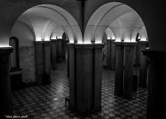 Statehouse Indoor Column Corner (that_damn_duck) Tags: bw blackwhite unitedstates columns southcarolina scstatehouse