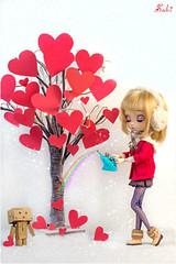 Grow high my love... (Suki) Tags: tree cute love rainbow heart sweet bokeh shorthair pullip blondehair pullips pullipcustom danboard