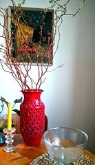 Italian Strawberry Spring / Swing (Ahornblatt2012) Tags: red italy vintage italian strawberry 60s retro 70s vase pottery graffito midcentury mcm floorvase strawberrydecor
