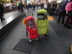 NYC Tourists (MadKnits) Tags: street city nyc newyorkcity urban stroller timessquare strollers