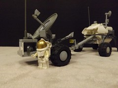 General Purpose Utility Rover and M0bile Comms Post (Ug the Pug) Tags: lego space rover fi exploration tow sci