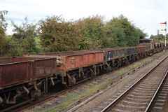 20150923 041 GCR Quorn. BR 20T GRAMPUS Ballast Open ZBO DB985730, DB985933 (15038) Tags: wagon br trains goods railways freight britishrail quorn grampus greatcentralrailway gcr zbo ballastopen greatcentralrailwayrailways 985933 985730
