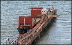 Down at the Jetty (peterdouglas1) Tags: cargoships northwalescoast llandulas coastalfreighters raynesquarry