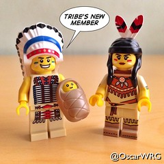 #LEGO #TribalChief #TribalWoman #Tribal #Chief #Baby #Papoose @lego_group @lego @bricksetofficial @bricknetwork @brickcentral (@OscarWRG) Tags: baby lego chief tribal papoose tribalwoman tribalchief