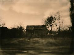 Good Road for Victor (raf6x6) Tags: road street trees abandoned car clouds barn blackwhite driving kodak box cottage hovel lviv lith oldtimer shack agfa bäume lithprint clack ruinen ruines lwów lemberg karpatenvorland lwow czernowitz ld20 tschernowitz bromesko