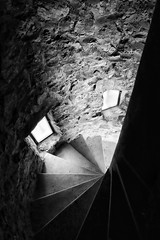 small project spiral staircase: Sad Face (macplatti) Tags: urban tower monochrome stone wall architecture gesicht colmar alsace historical sadface traurig wendeltreppe troisepis legaltz