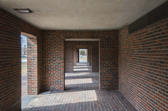 Exeter Library (scotthnyc) Tags: light shadow brick architecture concrete nikon library modernism kahn exeter brutalism louiskahn exeterlibrary d7000
