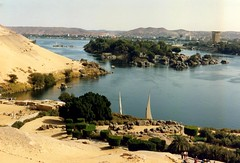 1992 - Upper Egypt - The Nile as Aswan (bellrockman2011) Tags: egypt nile temples pyramids aswan trajan antiquities pharaohs cataracts begum agakhan