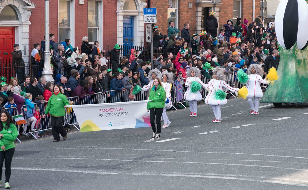 GAME ON BY CITY FUSION [DUBLIN 2016 PATRICK'S DAY PARADE]-112559