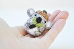 koala bear miniature (noristudio3o) Tags: bear animal woodland miniature koala tiny kawaii needlefelting giftideas etsystore etsyseller etsyfinds etsyhunter noristudio