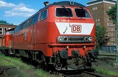 218 496  Braunschweig  02.06.02 (w. + h. brutzer) Tags: analog train germany deutschland nikon eisenbahn railway zug trains db v locomotive braunschweig lokomotive 218 diesellok eisenbahnen dieselloks webru