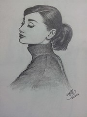 Audrey (FeSMonteiro) Tags: illustration audrey ilustrao hepburn