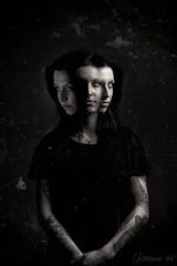 Marie 04 (Boris Untereiner) Tags: portrait woman white black eye texture girl dark three head zombie fear atmosphere horror expressive dust scratch scarred 500px ifttt