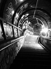 Steps to Hell (heiko.moser) Tags: street city bw streetart blancoynegro mono noiretblanc candid hell steps nb treppe sw monochrom schwarzweiss einfarbig blackwihte heikomoser