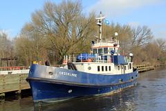 Cricklade (North Ports) Tags: manchester canal ship locks peel trafford salford ports msc irlam mmsi 235092535