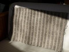 Straight Ori-nui shibori...in sunshine.. (Anita Thomhave Simonsen) Tags: iron cotton vinegar handsewn han alder shibori naturaldyeing onionskins fomitopsispinicola tritik anitathomhavesimonsen