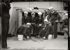 Acey Deucey (Studio d'Xavier) Tags: bw navy sailors oldphotograph oldphotos usnavy dreadnought aceydeucey ussarkansas bb33