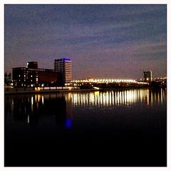RS_151108 17 27 32 (ralfs-photo) Tags: sunset deutschland abend dmmerung deu bunt rheinlandpfalz iphone ludwigshafen hipstamatic rheingalerie rheinuifer