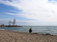 Beach Shooter (Georgie_grrl) Tags: sky lake toronto ontario beach water clouds michael sand friend lakeontario thebeaches breakfastmeetup