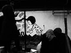 *** (Boris Rozenberg) Tags: street blackandwhite girl wall kids pen painting lens photography prime graffiti blackwhite streetphotography photojournalism documentary social olympus moment olympuspen blackandwhitephotography 17mm primelens