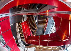 Stairs (c.richard) Tags: red stairs bristol bristolharbour ultrawideangle samyang mshed samyang75