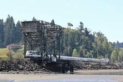 Amtrak Cascades (psychostretch) Tags: bridge train amtrak vehicle f59phi amtrakcascades chamberscreekproperties electromotivediesel