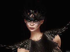 Crown (Eurdice Qork) Tags: portrait people woman sexy fashion photoshop model glamour style sl fantasy secondlife glam crown chic styling glamorous fashionist