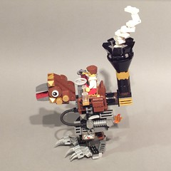 """Sparrow"" - A Steam Powered Mechanical Walker (voxel123) Tags: lego birding walker ornithology steampunk moc"