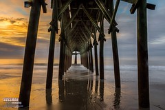 Sunrise Under the Pier (The Suss-Man (Mike)) Tags: wood longexposure sky beach nature water clouds sunrise myrtlebeach pier southcarolina atlanticocean slowshutterspeed georgetowncounty horrycounty thesussman sonyslta77 sussmanimaging