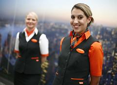 35 (SuckTheButton) Tags: blouse stewardess uniform azafata uniforme camisa blusa scarf