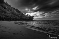 Ke'e Beach, Kauai (Photos by Bryan H) Tags: kauai sand ocean trails keebeach gardenisle sky usa mountain blackandwhite hawaii clouds garden unitedstates kapaa us