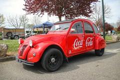 2CV Coca-Cola (xwattez) Tags: old france car french automobile citroen citron voiture 2cv transports ancienne 2016 franaise vhicule gratentour autortro boursedchange