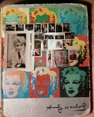 Art be me..marilyn..postcards..Andy's Marilyn (bballchico) Tags: art book photo marilynmonroe journal clipart postcards andywarhol artbyme