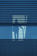 zebra crossing (Wackelaugen) Tags: street blue man silhouette architecture canon germany person photography eos photo europe crossing stuttgart stripes zebra googlies kunstmuseum wackelaugen