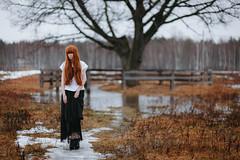 SOK_5003 (KirillSokolov) Tags: portrait girl nikon 85mm style amish redhead nikkor ru портрет россия весна дерево кирилл рыжая девушка kirill 8514d ivanovo sokolov соколов поле иваново никон russua d3s амиш д3с nikonru kirillsokolov2016