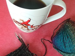 cup_of_the_day (pacific_rin) Tags: cup coffee socks knitting cowboy mug cathkidston