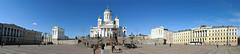 Helsinki Senate Square (DigitalLyte) Tags: panorama statue photoshop finland helsinki pano tourists senatesquare universityofhelsinki helsinkicathedral governmentpalace historictowncenter 2xvertical
