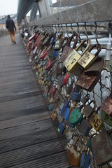 Kadka Ojca Bernatka (Ruth, London) Tags: bridge love poland krakow tokens vistula padlocks