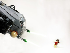 Run Siggy (Drazard .) Tags: new fiction building toy ship lego signature fake science lasers figure blocks spaceship fi afraid pew tow sci siggy bai